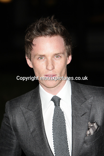 NON EXCLUSIVE PICTURE: MATRIXPICTURES.CO.UK.PLEASE CREDIT ALL USES..WORLD RIGHTS..Picture shows British actor Eddie Redmayne attending the London Evening Standard British Film Awards at the Marriott Hotel County Hall, London...FEBRUARY 4th 2013..REF: GBH 13740
