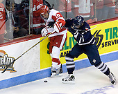 Kevin Gilroy (BU - 16), Cameron Bernier (Toronto - 3) - The Boston University Terriers defeated the visiting University of Toronto Varsity Blues 9-3 on Saturday, October 2, 2010, at Agganis Arena in Boston, MA.