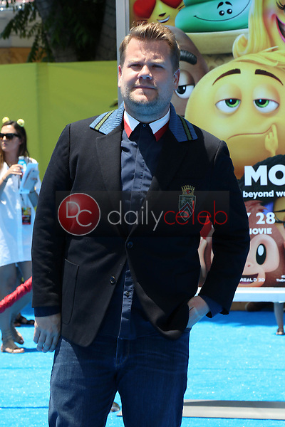"James Corden<br /> at the premiere of ""The Emoji Movie,"" Village Theater, Westwood, CA 07-23-17<br /> David Edwards/DailyCeleb.com 818-249-4998"