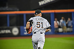 Ichiro Suzuki (Marlins),<br /> SEPTEMBER 14, 2015 - MLB :<br /> Ichiro Suzuki of the Miami Marlins takes to the field in the first inning during the Major League Baseball game against the New York Mets at Citi Field in Flushing, New York, United States. (Photo by Hiroaki Yamaguchi/AFLO)