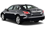 Rear three quarter view of a 2013 Nissan Altima SL