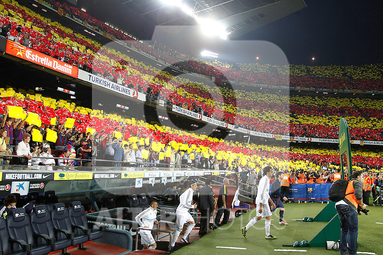Barcelona's and Real Madrid's during la Liga match on october 7th 2012. ..Photo: Cesar Cebola  / ALFAQUI