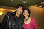 Sopranos, One Life To Live & Guiding Light Saundra Santiago poses with Vincent Spano at Chiller Theatre's Spring Spooktacular on the weekend of April 27-29 at the Hilton Parsippany in Parsippany, New Jersey. (Photo by Sue Coflin/Max Photos)