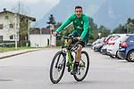 09.07.2019, Parkstadion, Zell am Ziller, AUT, TL Werder Bremen Zell am Ziller / Zillertal Tag 05<br /> <br /> im Bild<br /> Kevin Möhwald / Moehwald (Werder Bremen #06) auf Mountainbike nach Trainingsende, <br /> <br /> Foto © nordphoto / Ewert
