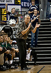 January 14, 2012:   Hawai'i Rainbow Warriors head coach Gib Arnold encourages his team against the Nevada Wolf Pack during their NCAA basketball game played at Lawlor Events Center on Saturday night in Reno, Nevada.