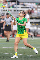 Towson, MD - March 25, 2017: Oregon Ducks Julia Bolte (1) in action during game between Towson and Oregon at  Minnegan Field at Johnny Unitas Stadium  in Towson, MD. March 25, 2017.  (Photo by Elliott Brown/Media Images International)