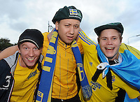 6th September 2013; .Swedish supporters outside the Aviva Stadium before the match. 2014 FIFA World Cup Qualifier, Group C,  Republic of Ireland v Sweden, Aviva Stadium, Dublin. Picture credit: Tommy Grealy/actionshots.ie.