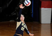Florida International University women's volleyball player Carolyn Fouts (17) plays against Florida Gulf Coast University.  FIU won the match 3-0 on November 8, 2011 at Miami, Florida. .