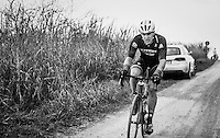 Jasper Stuyven (BEL/Trek-Segafredo) chasing back to the front after a flat<br /> <br /> 11th Strade Bianche 2017