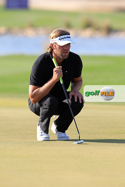 Johan CARLSSON (SWE) on the 15th green during Saturday's Final Round of the 2015 Commercial Bank Qatar Masters held at Doha Golf Club, Doha, Qatar.: Picture Eoin Clarke, www.golffile.ie: 1/24/2015