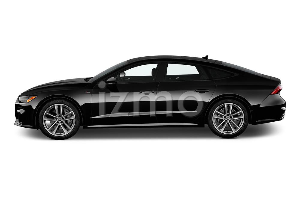 Car Driver side profile view of a 2020 Audi A7 Premium-Plus 5 Door Hatchback Side View