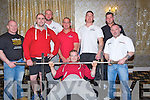 BENCH: Taken part in the Munster open GPC Bench pressing championship in the Earl of Desmond Hotel, Tralee on Saturday. Dave Banks, Shane Brodie, Paul Cronion, Ger Tobin, Frank Savage, Garry Egar and Graham Quirke...