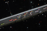 Feb 10, 2007; Daytona, FL, USA; Nascar Nextel Cup driver Kyle Busch (5) leads the field during the Budweiser Shootout at Daytona International Speedway. Mandatory Credit: Mark J. Rebilas