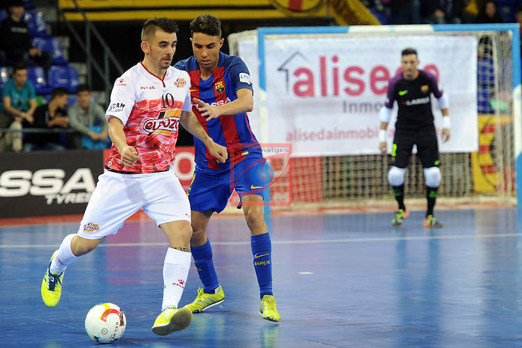 League LNFS 2016/2017 - Game 8.<br /> FC Barcelona Lassa vs ElPozo Murcia: 2-3.<br /> Alex vs Aicardo.