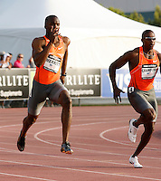 LaShawn Merritt won the 200m with a time of 20.07 at the Adidas Track Classic held at the Home Depot Center, Carson, Ca. on Saturday, May 16, 2009. Photo by Errol Anderson, The Sporting Image.net