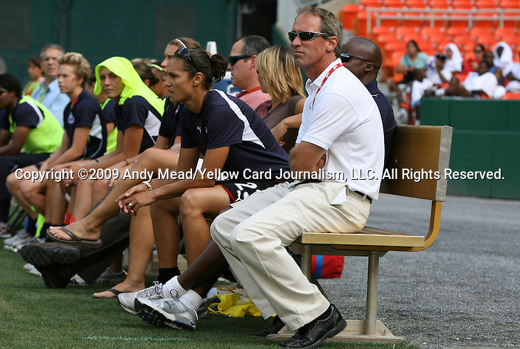 18 July 2009: Washington head coach Jim Gabarra. The Washington Freedom defeated Saint Louis Athletica 1-0 at the RFK Stadium in Washington, DC in a regular season Women's Professional Soccer game.