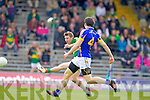 James O'Donoghue, Kerry scores a goal against Ciaran McDonald, Tipperary in the first round of the Munster Football Championship at Fitzgerald Stadium on Sunday.