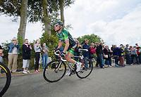 'attackeur du jour' Thomas Voeckler (FRA/Europcar)<br /> <br /> 2014 Tour de France<br /> stage 4: Le Touquet-Paris-Plage/Lille M&eacute;tropole (163km)