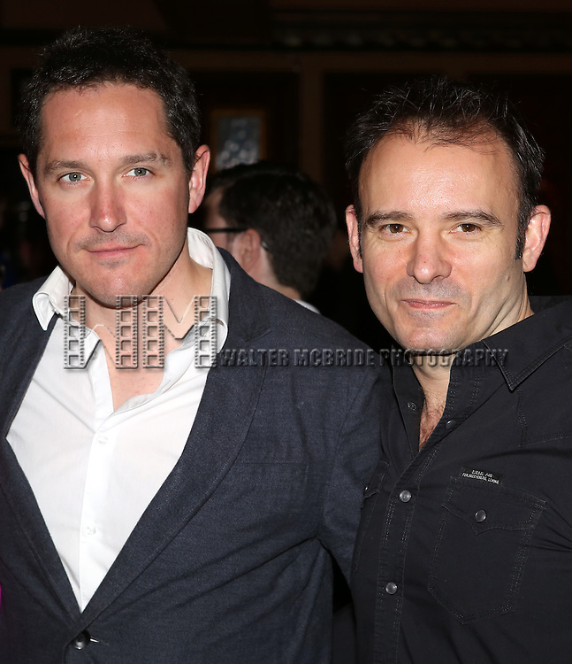 Bertie Carvel, Matthew Marchus attending the 78th Annual New York Drama Critics Circle Awards at 54 Below in New York City on 5/13/2013..