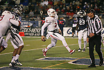 Fresno State's Brian Burrell (2) scores against Nevada during the first half of an NCAA college football game in Reno, Nev., on Saturday, Nov. 22, 2014. (AP Photo/Cathleen Allison)