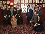 Gretchen Mol, Winona Ryder, Matthew Broderick, Tavi Gevinson, J Smith Cameron, Kenneth Lonergan, CJ Wilson, Josh Hamilton, Michael Cera, Lily Thorne attend the unveiling of the Kenneth Lonergan caricature at Sardi's on February 17, 2017 in New York City.