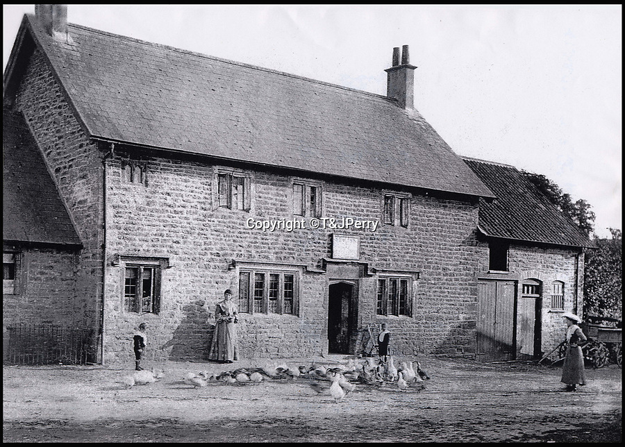 BNPS.co.uk (01202 558833)<br /> Pic: T&JPerry/BNPS<br /> <br /> The Cat Head Inn in the 19th century.<br /> <br /> The little changed Somerset village of Chiselborough whose residents have pieced together their history in photographs.<br /> <br /> A rural village's community has painstakingly put together its social history over the last 40 years, which is now going on display.<br /> <br /> Tony and June Perry first started collecting images of Chiselborough, in south Somerset, 40 years ago for the project which celebrates the village's people, traditions and buildings.<br /> <br /> Dozens of villagers have helped the couple compile 600 photos which are finally going to be shown in a new exhibition.<br /> <br /> The images, which date back to the 1860s, highlight many notable events in Chiselborough's history including the fire of 1890 which saw the pub burn down.<br /> <br /> Other photos show the silver jubilee party of 1935, a school fancy dress day in 1954 and the renovation of the village's 12th century church in 1971.<br /> <br /> Situated on the River Parrett, Chiselborough is five miles west of Yeovil and has a population of just 275 people.
