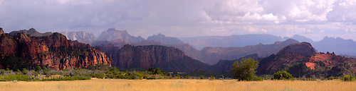 Panorama from the Kolob Terrace area at Zion National Park