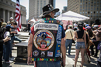 NEW YORK JUNE 10: Trump supporters attend to an anti-sharia law rally organized by ACT for America on June 10, 2017 at Foley square in New York. Photo by VIEWpress/Maite H. Mateo.