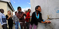 """HIV Healthcare Center """"Ubuntu Africa"""" for kids with founder Ms Whitney Johnson in Khayelitsha, Cape Town, SA 2010"""