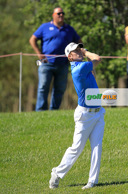 Andrew Dodt (AUS) on the 2nd fairway during Round 4 of the Open de Espana  in Club de Golf el Prat, Barcelona on Sunday 17th May 2015.<br /> Picture:  Thos Caffrey / www.golffile.ie