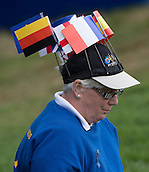23.09.2014. Gleneagles, Auchterarder, Perthshire, Scotland.  The Ryder Cup.  Patriotic Team Europe supporter during Team Europe practice round.
