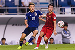 Nguyen Huy Hung of Vietnam (R) fights for the ball with Doan Ritsu of Japan (L) during the AFC Asian Cup UAE 2019 Quarter Finals match between Vietnam (VIE) and Japan (JPN) at Al Maktoum Stadium on 24 January 2018 in Dubai, United Arab Emirates. Photo by Marcio Rodrigo Machado / Power Sport Images