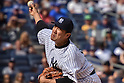Masahiro Tanaka (Yankees), SEPTEMBER 13, 2015 - MLB : Masahiro Tanaka of the New York Yankees pitches in the seventh inning during the Major League Baseball game against the Toronto Blue Jays at Yankee Stadium in the Bronx, New York, United States. (Photo by Hiroaki Yamaguchi/AFLO)