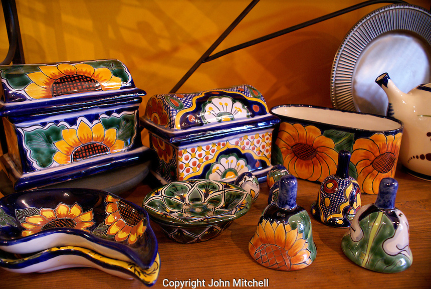 Talavera pottery from the state of Guanajuato, Mexico