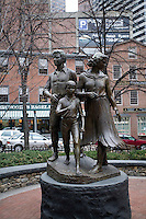 Arriving in America sculpture Boston