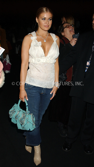 WWW.ACEPIXS.COM ** ** ** ....NEW YORK, FEBRUARY 6, 2005....Carmen Electra at the Imitation of Christ fashion show.....Please byline: KRISTIN CALLAHAN - ACE PICTURES.. *** ***  ..Ace Pictures, Inc:  ..Philip Vaughan (646) 769-0430..e-mail: info@acepixs.com..web: http://www.acepixs.com