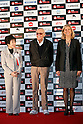 Comic book writer Stan Lee (center) poses for the cameras during the red carpet for the Tokyo Comic Con at Makuhari Messe International Exhibition Hall on December 2, 2016, Tokyo, Japan. Tokyo's Comic Con is part of the San Diego Comic-Con International event and is being held for the first time in Japan from December 2 to 4, 2016. (Photo by Rodrigo Reyes Marin/AFLO)