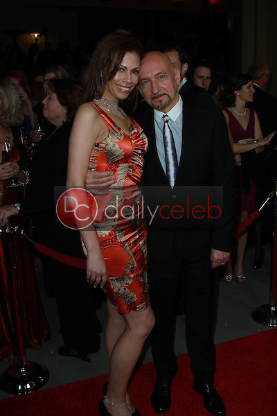 Daniela Lavender and Sir Ben Kingsley<br />