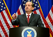 United States Secretary of Labor Alex Acosta holds a press conference at the Department of Labor in Washington, DC on Wednesday, July 10, 2019.  He was discussing his prosecution of Jeffrey Epstein in Florida in 2008.<br /> Credit: Ron Sachs / CNP<br /> (RESTRICTION: NO New York or New Jersey Newspapers or newspapers within a 75 mile radius of New York City)