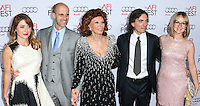 HOLLYWOOD, LOS ANGELES, CA, USA - NOVEMBER 12: Sasha Alexander, Edoardo Ponti, Sophia Loren, Carlo Ponti, Jr., Andrea Meszaros Ponti arrive at the AFI FEST 2014 - Special Tribute To Sophia Loren held at the Dolby Theatre on November 12, 2014 in Hollywood, Los Angeles, California, United States. (Photo by Xavier Collin/Celebrity Monitor)