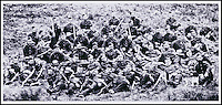 BNPS.co.uk (01202 558833)<br /> Pic: DixNoonanWebb/BNPS<br /> <br /> A group photo of survivors of 'B' Company, 2/24th Regiment who fought at Rorkes Drift.<br /> <br /> A medal awarded to a British hero of Rorke's Drift, the epic battle immortalised in the film Zulu, has emerged fro sale.<br /> <br /> Private Michael Minehan was one of the 150 British soldiers who defended the Rorke's Drift mission station from 4,000 Zulu warriors in 1879.<br /> <br /> The incredible action resulted in 11 Victoria Crosses being awarded and was made famous by the 1964 movie starring Michael Caine.<br /> <br /> Pte Minehan was in the front line of 'B' Company and fought off the marauding Zulus, first by shooting at them and then using close hand-to-hand combat involving bayonets and spears.<br /> <br /> His medal, which is being sold by Dix Noonan Webb is expected to fetch &pound;30,000 on December 8 (Thurs).