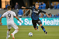 San Jose, CA - Saturday June 09, 2018: Diego Rossi, Yeferson Quintana during a Major League Soccer (MLS) match between the San Jose Earthquakes and Los Angeles Football Club at Avaya Stadium.
