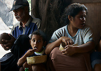 villagers share lunch in village Bena, Ngada people, Flores, Indonesia