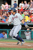 Binghamton Mets outfielder Juan Lagares #13 during a game against the Erie Seawolves at Jerry Uht Park on June 23, 2012 in Erie, Pennsylvania.  Erie defeated Binghamton 5-3.  (Mike Janes/Four Seam Images)
