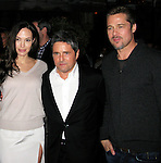 **EXCLUSIVE**.Angelina Jolie, Brad Grey Paramount CEO, and Brad Pitt..Paramount Pre Golden Globe Party..Paramount CEO, Brad Grey, celebrating his five more year contract as CEO with his super star clients..Chateau Marmount..West Hollywood, CA, USA..Saturday January 10, 2009..Photo By Celebrityvibe.com..To license this image please call (212) 410 5354; or Email: celebrityvibe@gmail.com ;.website: www.celebrityvibe.com