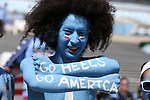 04 October 2014: UNC fan on Military Appreciation Day. The University of North Carolina Tar Heels hosted the Virginia Tech Hokies at Kenan Memorial Stadium in Chapel Hill, North Carolina in a 2014 NCAA Division I College Football game.