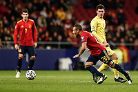 18th November 2019; Wanda Metropolitano Stadium, Madrid, Spain; European Championships 2020 Qualifier, Spain versus Romania;  Santi Cazorla (esp) gats past his marker - Editorial Use