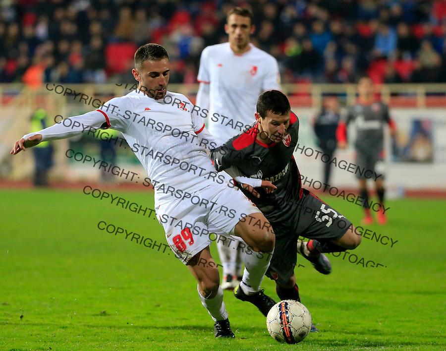Fudbal Jelen Super League season 2015-2016<br /> Radnicki Nis v Crvena Zvezda<br /> darko Bulatovic (L) and Slavoljub Srnic<br /> Nis, 22.11.2015.<br /> foto: Srdjan Stevanovic/Starsportphoto&copy;
