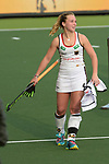 NED - Amsterdam, Netherlands, August 20: During the women Pool B group match between Germany (white) and England (red) at the Rabo EuroHockey Championships 2017 August 20, 2017 at Wagener Stadium in Amsterdam, Netherlands. Final score 1-0. (Photo by Dirk Markgraf / www.265-images.com) *** Local caption *** Nike Lorenz #4 of Germany