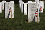 Barrancas National Cemetery is located on the grounds of the Naval Air Station in Pensacola, Florida, and traces its history to three 19th century forts that once guarded the entry to one of the best natural harbors in the Gulf of Mexico--Pensacola Bay.  Today, Barrancas National Cemetery is the final resting place for more than 36,000 military veterans, including several Medal of Honor recipients.  While most of the cemetery graves are laid out in uniform rows, a section of burials remains from the early 1800s predates the establishment of the national cemetery by more than 50 years. ©2013. Jim Bryant Photo. All Rights Reserved....